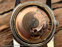 Load image into Gallery viewer, Croton Aquamatic Golden Patina Dial on Unusual Wide Black Leather Strap, Automatic, 32mm
