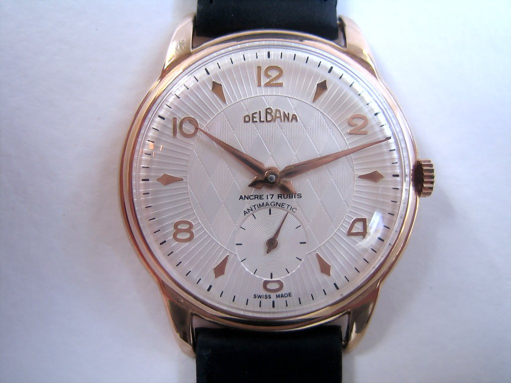 Huge Delbana Textured Dial, Manual, Whopping 38mm