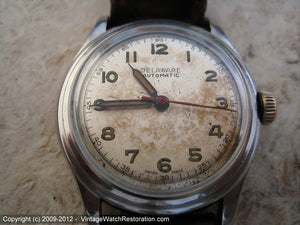 Delaware (Rodana) Patina Dial with Second Tick Markers, Automatic, 33.5mm