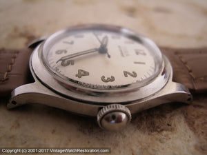 WWII Era Doxa with Military Style Dial, Manual, 32mm