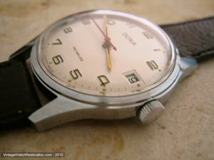 Perfect NOS Doxa Stainless Incabloc with Date, Manual, 34mm