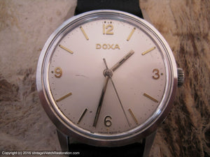 Classic Large Doxa with Silver Dial, Manual, Large 35mm