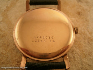 14K Pink Gold Calatrava Style Doxa, Manual, Large 35mm