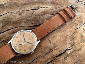 Doxa Antimagnetique with Handsome Rusty-Amber Patina, Manual, Large 33.5mm