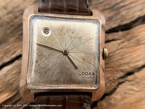 Doxa 'Grafic' Date at Top Left of Starburst Dial, Manual,  31x36mm