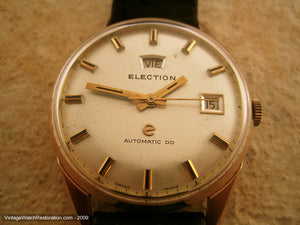 Election Day/Date Rose Gold Plated, Automatic, Large 35.5mm