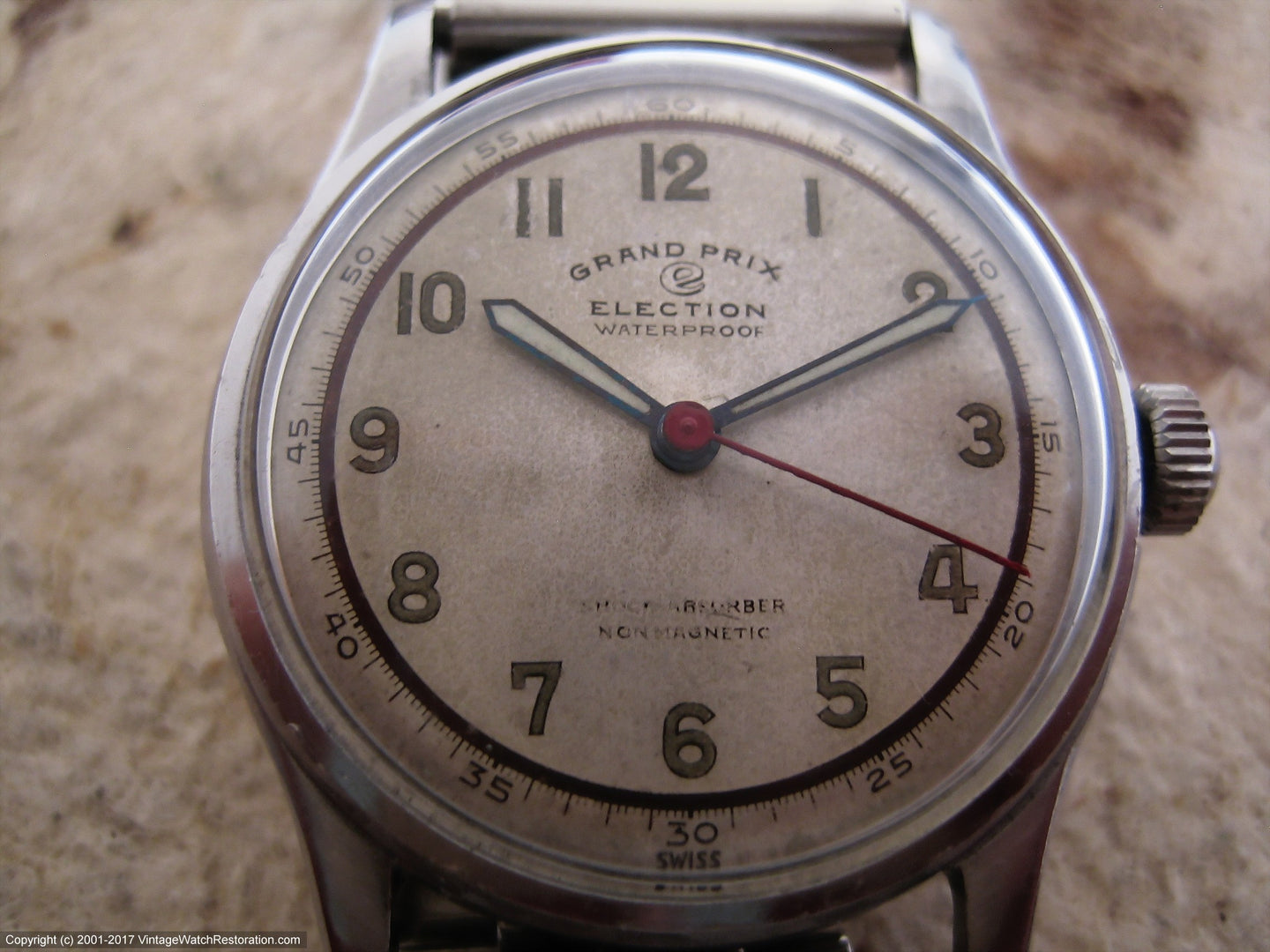 Two Tone Parchment Dial Election Grand Prix, Manual, 32mm