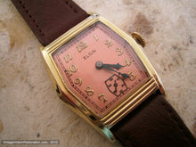 Load image into Gallery viewer, Large Six Sided Elgin Tank with Coppery-Rose Dial, Manual, 29x38mm