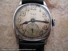 Load image into Gallery viewer, Mid-Twenties Elgin Square Tonneau with Impressive Dial, Manual, 28x28mm