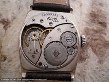 Load image into Gallery viewer, Elgin ca. 1930 with Super Dial in Large Hexagon White Gold Case, Manual, Large 29x36mm
