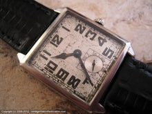 Load image into Gallery viewer, Early Very Large Square Elgin with Original Silvered Dial, Manual, 28x35mm