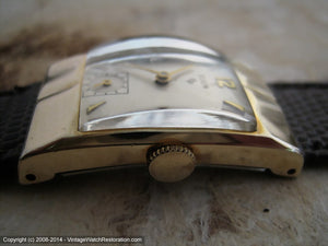 Elgin Cream Dial Deco Case Cal 673, Manual, 21.5x36mm
