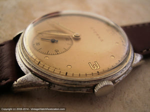 WWII Era Classic Gold Dial Eterna, Manual, Large 35mm