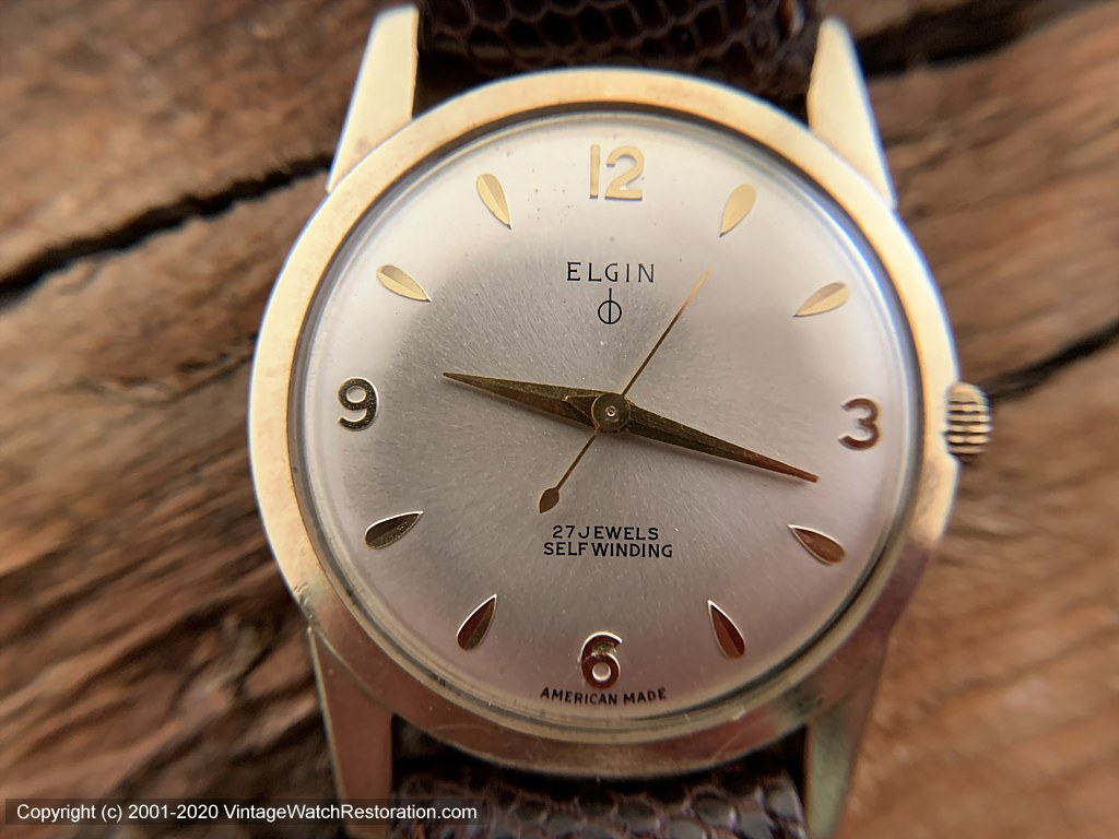 Elgin Sleek Case with Classic Dial, 27 Jewel, Automatic, 32.5mm