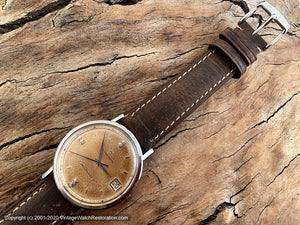 Eterna-Matic 'Centennaire 61' Coppery Patina, Date, Automatic, Large 35mm