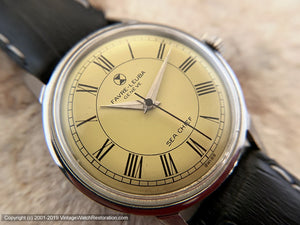 Favre-Leuba 'Sea Chief' with Bright Yellow Dial, Manual, 34mm