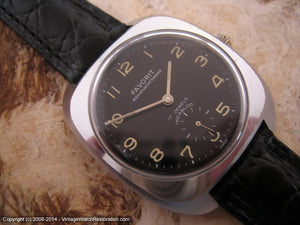 Favorit Military Wehrmachtswerk with Black Dial, Manual, 36x41mm