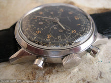 Load image into Gallery viewer, Rare All Original Gallet MultiChron 12 'Jim Clark' Black Military-Style Dial Chronograph, Manual, Huge 38mm