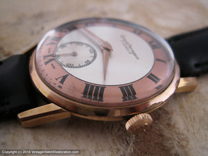 Stunning Girard-Perregaux Copper-White Roman Dial, Manual, Large 36mm
