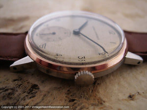 Large Girard-Perregaux with Original Dial and Rose-Gold Bezel Ring, Manual, 35mm
