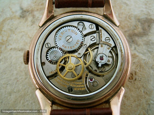 Gruen Two-tone Dial with 24-hour Markers in Art Deco Rose Gold Case, Manual, 32mm