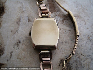 Early Gruen Art Deco Stepped Case with Period Bracelet, Manual, 25x39mm