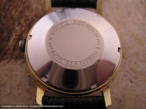 Fabulous Black Dial Gruen Precision with Date, Automatic, Large 34mm