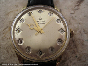 Rare Gruen 'Air Flight' 24-Hour Flip Style Dial, Manual, Large 35.5mm