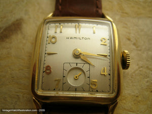 "Hamilton ""Fulton"" Gold Square - A Little Gem, Manual, 26.5x37mm"