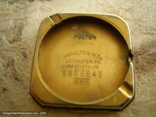 "Load image into Gallery viewer, Hamilton ""Fulton"" Gold Square - A Little Gem, Manual, 26.5x37mm"