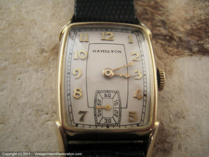 Hamilton 'Jeffrey' Gem Tank-Shaped Case, Manual, 23x37mm