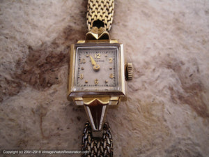 Hamilton 14K Gold Case with Mesh Gold Filled Bracelet, Ladies, Manual, 15x30mm