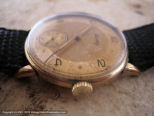 Load image into Gallery viewer, Hertig (Certina) WWII Era with Original Golden Two-Tone Dial, Manual, 33mm