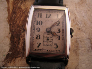 Illinois Kenilworth in Rare Original Drop Shadow Style Dial, Manual, 26x38.5mm