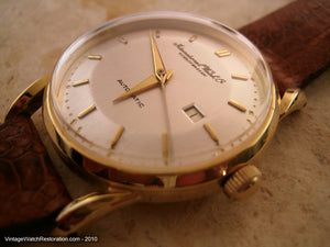 Rare Ingenieur Movement Cal 8521 Pie Pan 18K Gold IWC, Automatic, 34mm