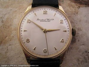 18K Yellow Gold Cal 89 Pearl White Dial, Manual, 33.5mm