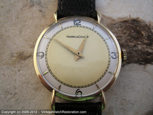 Large Format 18K Gold Two-Tone Jaeger LeCoultre Splendor, Manual, Very Large 36mm