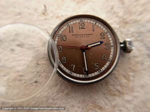 John Wanamaker WWII Era Two-Tone Copper Dial Gem, Manual, 32.5mm