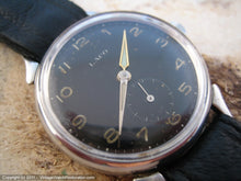 Load image into Gallery viewer, German WWII Era Military Laco with Black Dial, Manual, Large 34mm