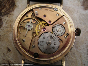 Attractive Lanco 17 Rubis Date in Rose Gold Case, Manual, Large 35mm