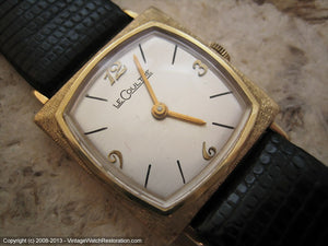 Minty Square 'TV Style' LeCoultre in 14K Gold Case, Manual, 26x26mm