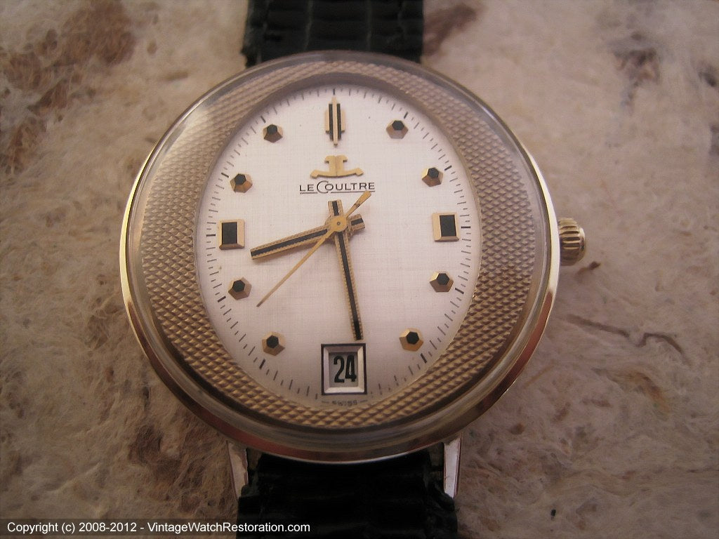 Minty and Most Unusual Oval Dial LeCoultre, Manual, 33.5mm