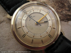 LeCoultre Two-Tone Wrist Alarm, Manual, Large 35mm
