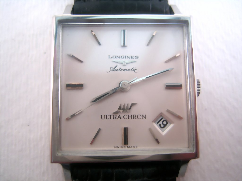 Big Square Longines Ultra-Chron with Date, Automatic, Large 31x31mm