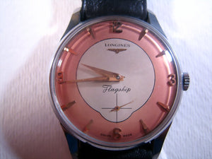 Longines Flagship Salmon Dial, Manual, Very Large 37mm