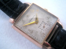 Load image into Gallery viewer, Square 18K Rose Gold Longines with Fabulous Masonic symbols, Manual, 27x40mm