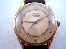 Load image into Gallery viewer, Longines Parchment Aged 18K Rose Gold Gem, Manual, 35mm