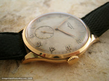 Load image into Gallery viewer, Longines Huge 18K Yellow Gold with Original Patina Dial, Manual, Huge 37.5mm