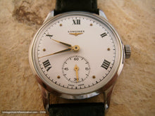 Load image into Gallery viewer, Longines Stunning White Dial with Black Roman Numerals, Manual, Large 35mm