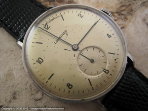 Early Longines Original with Large Bronze Dial , Manual, Large 35.5mm